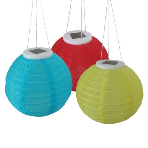 Chinese Solar Lanterns 3-pack