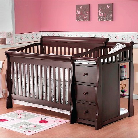 Sorelle Tuscany 4-in-1 Convertible Crib and Changing Table