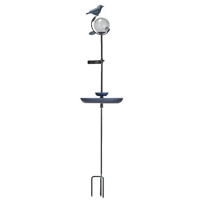 Smart Living Aquarius Solar Birdbath Stake with Orb