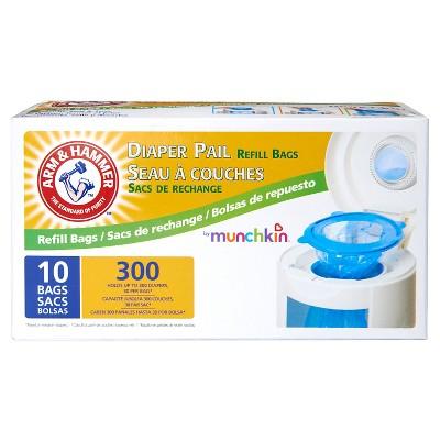 Arm & Hammer 10pk 250ct Diaper Pail Refills by Munchkin
