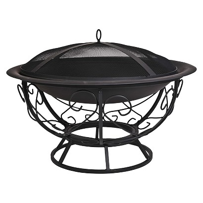 Fire Pit with Scroll Baase