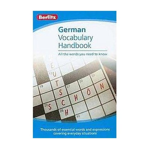 Berlitz German Vocabulary Handbook (Bilingual) (Paperback)
