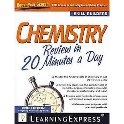 Chemistry Review in 20 Minutes a Day (Revised / Updated) (Paperback)