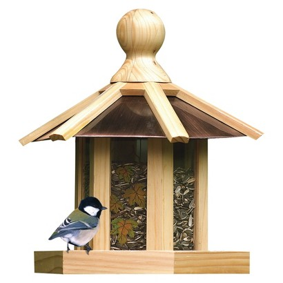 Perky-Pet Copper Top Pine Gazebo Wood Wild Bird Feeder
