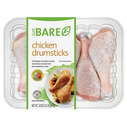 Just BARE Chicken Drumsticks (20 oz.)