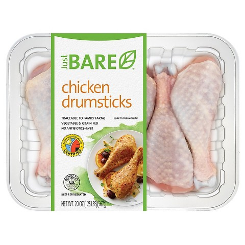 Just BARE Chicken Drumsticks (20 oz.)