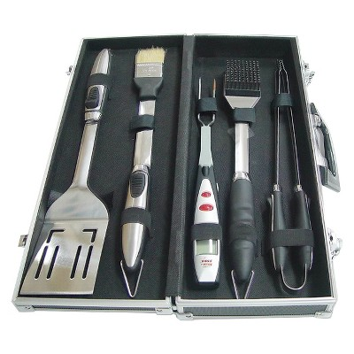 BBQ Tools Accessory Kit in Case with Digital Fork
