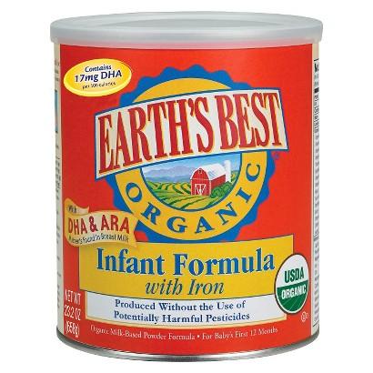 Earth's Best Organic Milk-Based Infant Formula - 23.2 oz. (4 Pack)