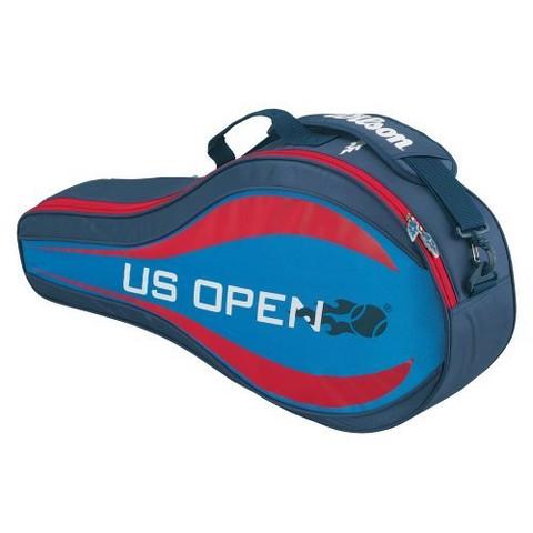 Wilson US Open Triple Three Racquet Tennis Bag - Grey