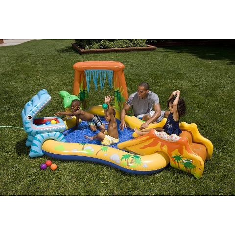 Intex Kids Dinosaur And Volcano Play Center Pool Target