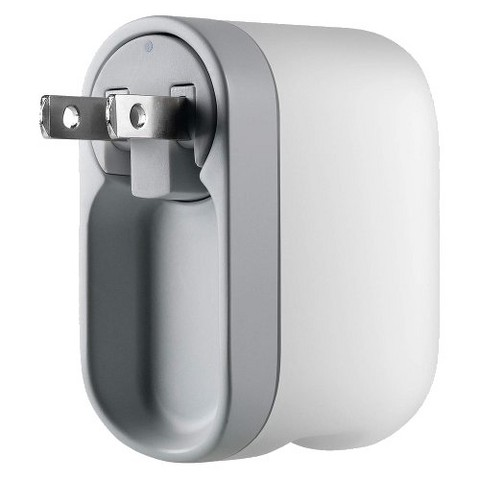 Belkin AC Charger with Swivel Plug for iPhone® - Gray/White (F8Z414ttP)