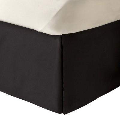 Solid Bedskirt (Twin) Black - Room Essentials™