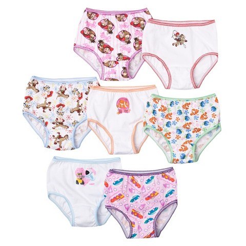 7 Pack Underwear, Little Girls' Disney Pixar by Handcraft