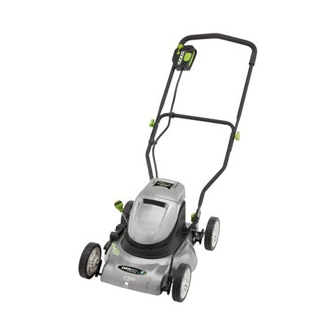 Earthwise 60217 17-Inch 24 Volt Side Discharge/Mulching Cordless Electric Lawn Mower