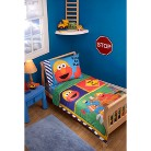 Sesame Street Construction Zone 4 Pc. Bed Set - Toddler