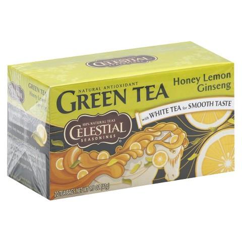 Celestial Seasonings Honey Lemon Ginseng Green with White Tea 20 ct