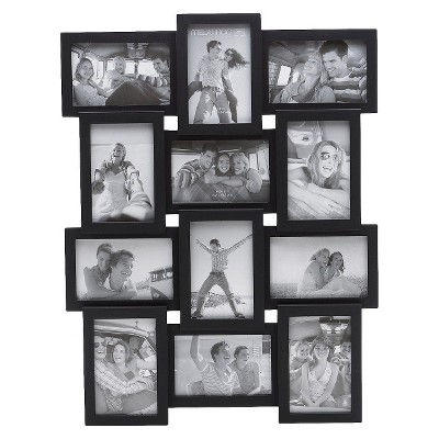 12-Opening Photo Frame - Black 4x6
