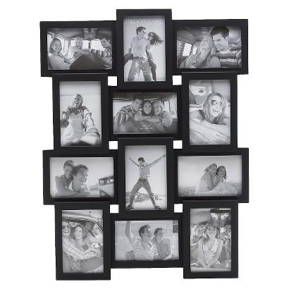 12-Opening Photo Frame - Black 4x6