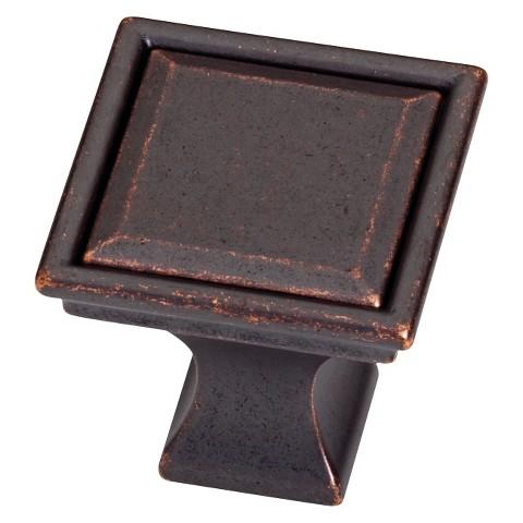 Threshold™ 10-Pack Vista Square Knob - Oil-Rubbed Bronze