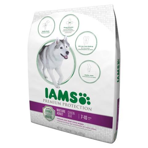 Iams Premium Protection Mature Adult Dry Dog Food for Dogs Age 7-10 Years 11lb Bag