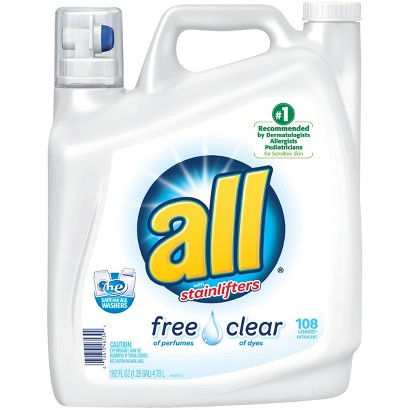 All Free & Clear HEC Liquid Laundry Detergent 172 oz