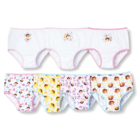 7 Pack Underwear, Little Girls' Dora the Explorer by Handcraft