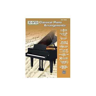 10 for $10 Sheet Music Classical Piano Arrangements (Paperback)
