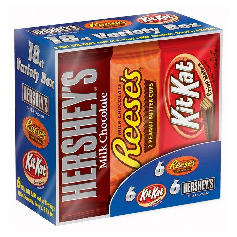 Hershey's Candy Bars Variety Pack 18 ct