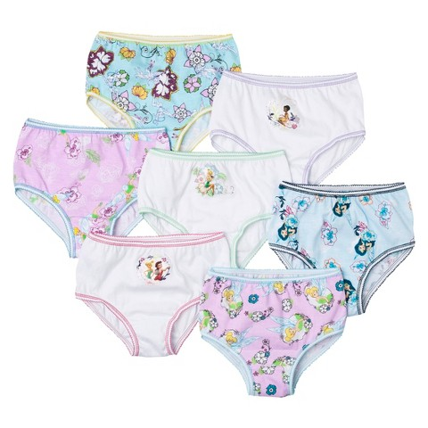 Disney Fairies Toddler Girls' 7 Pack Brief Set - Assorted