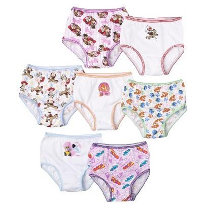 7 Pack Underwear, Little Girls' Disney Pixar by Handcraft