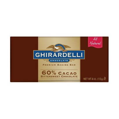 Ghirardelli All Natural Premium Bittersweet Chocolate Baking Bar 4-oz.