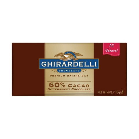 Ghirardelli All Natural Premium Bittersweet Chocolate Baking Bar 4 oz