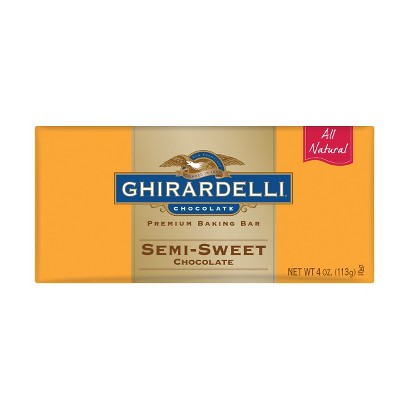 Ghirardelli All Natural Semi-Sweet Chocolate Premium Baking Bar 4 oz