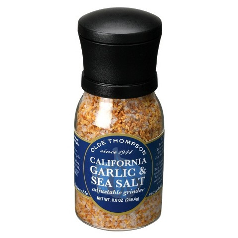 Olde Thompson Garlic Sea Salt Adjustable Grinder 9 oz
