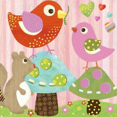 Oopsy Daisy too Love n Nature Bird Buddies - 10x10""