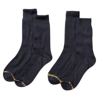 Signature GOLD by GOLDTOE® Boys' 2-Pack Crew Socks - Black