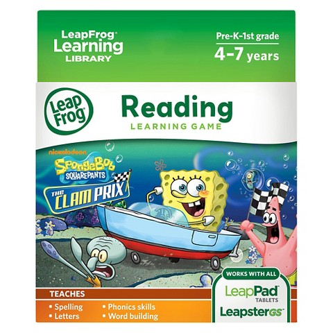 LeapFrog® Learning Game: SpongeBob SquarePants The Clam Prix (for LeapPad® Tablets and