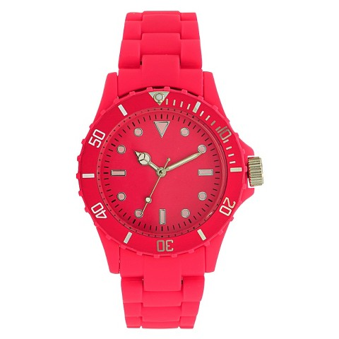 Xhilaration® Women's Round Bracelet Watch - Hot Pink