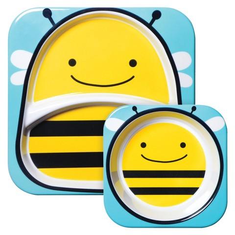 Skip Hop Zoo Melamine Kids & Toddler Tableware Set Bee