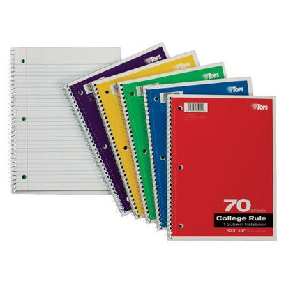 1-Subject 70-sheet Wide-Rule Notebook