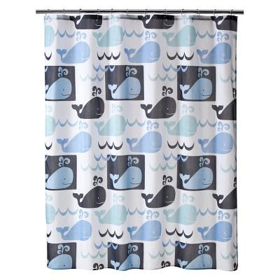 "Whale Watch Shower Curtain - 70x71"""