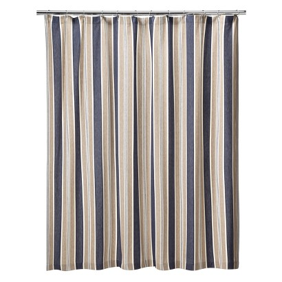Rugby Stripe Shower Curtain - 70x71""