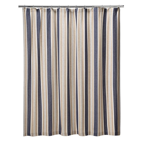 Nautical stripe shower curtain - Circo Rugby Stripe Shower Curtain Target