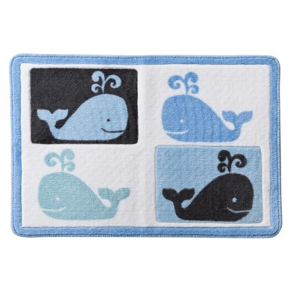 Whale Watch Bath Rug - 20x30""