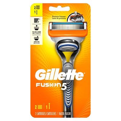 Gillette Fusion Men's Razor with 2 Fusion Razor Blades - 2 count