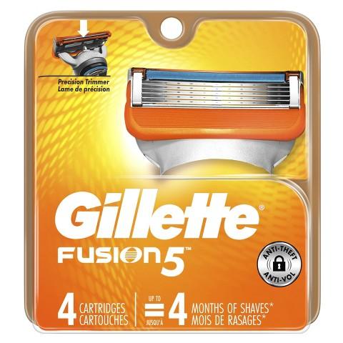 Gillette Fusion Power Razor Blade Refills - 4 count