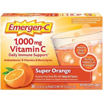 Emergen-C® Vitamin C Super Orange Dietary Supplement - 30 Count (9.3 oz Each)
