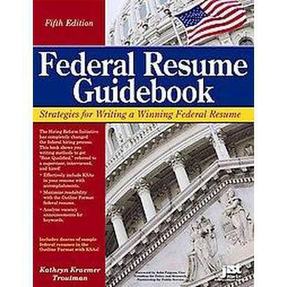 federal resume guidebook paperback target