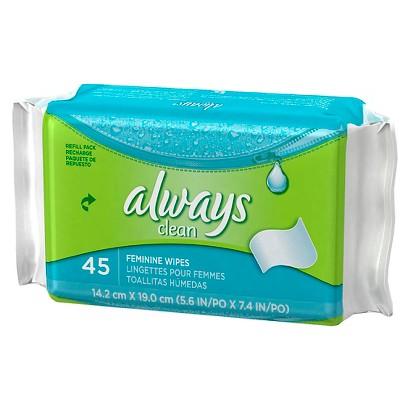 Always Clean Feminine Wipes - 45 Count