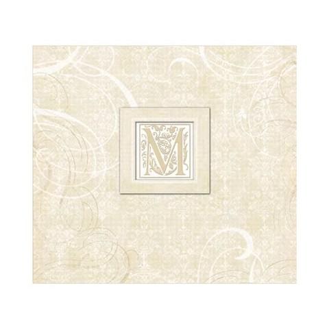 "K&Company Wedding Elegant Scrolls Lilo Postbound Album 12""X12""  - 12""X12"""